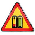 Do not incinerate battery and charger Royalty Free Stock Images