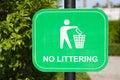 Do Not Litter Signs