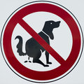 Do not poop dog sign image isolated on white its a forbidden Royalty Free Stock Image