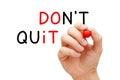 Do Not Quit Do It Concept