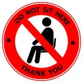 Do Not Sit Here Signage for restaurants and public places Royalty Free Stock Photo