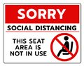 Do not sit Sign.Do not seat area warning signs. Forbid or forbidden seating down icons. Keep Social distancing for covid-19 or Royalty Free Stock Photo