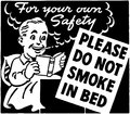 Do Not Smoke In Bed Royalty Free Stock Photo