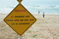 Do not swimming sign Royalty Free Stock Photo