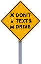 Do Not Text and Drive Royalty Free Stock Photography