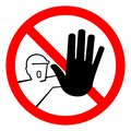 Do Not Touch,No Entry For Unauthorized Persons Symbol Sign, Vector Illustration, Isolate On White Background. Label .EPS10