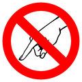 Do not touch warning sign Royalty Free Stock Photo