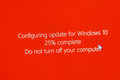 Do not turn off your computer during configuring Windows 10 Upgr