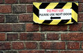 Do Not Use Door Sign Royalty Free Stock Photo