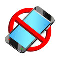 Do not use smartphone prohibition sign vector