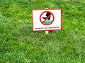 DO NOT WALK ON LAWNS. Please keep off the grass sign in German language. Royalty Free Stock Photo
