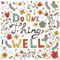 Do one thing well concept card vector illustration Royalty Free Stock Photo