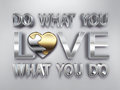 Do what you love motivation concept word Royalty Free Stock Photo