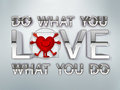 Do what you love motivation concept word Royalty Free Stock Photos