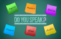 Do you speak board illustration design Royalty Free Stock Photography
