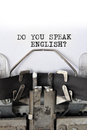 Do you speak english? Royalty Free Stock Image