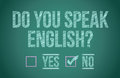 Do you speak english Stock Photography