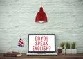 Do You Speak English? Royalty Free Stock Photo