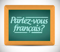 Do you speak french written in french illustration design over a white background Stock Photo