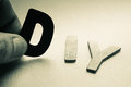 Do it yourself diy in wood letters Royalty Free Stock Photography