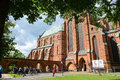 Doberan minster germany bad outside of people walking outside at bad in summer time Stock Images
