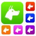 Doberman dog set collection
