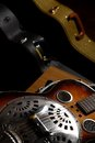 Dobro Guitar in case Stock Images