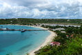 Dock and brackish pond, Anguilla, British West Indies, BWI, Caribbean Royalty Free Stock Photo