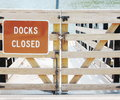 Dock closed closed close up Royalty Free Stock Photos