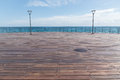 Dock empty over the mediterranean sea Royalty Free Stock Images