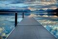 Dock on Lake McDonald in Glacier National Park, Montana, USA Royalty Free Stock Photo