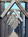 Dock Pilings Royalty Free Stock Photo