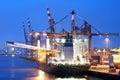 Docked Cargo ship Royalty Free Stock Photo