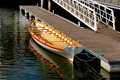 Docked gondola or longboat Stock Image