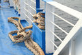 Docking rope on ferry boat Stock Photography