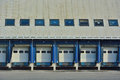 Docking station for cargo trucks detail of a industrial building Stock Photos