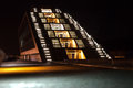 Dockland building in Hamburg by night Stock Photos