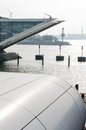 Dockland and river elbe at hamburg Stock Photos