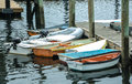 At the docks these boats were taken gloucester ma in after noon Royalty Free Stock Image