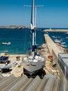 The docks in marin sagres algarve portugal marina of Stock Images