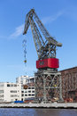 Dockside crane Royalty Free Stock Photo