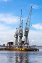 Dockside crane service Stock Images