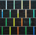 Docoration of building exterior decoration with multi colors Royalty Free Stock Photo