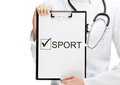 Doctor advising doing sport Stock Images