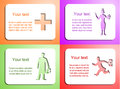 Doctor card set vector this is file of eps format Royalty Free Stock Images