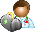 Doctor career icon or symbol Royalty Free Stock Images