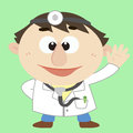Doctor ,Cartoon Character, Vector Illustration Stock Photos