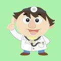 Doctor ,Cartoon Character, Vector Illustration Stock Image