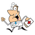 Doctor cartoon illustration Stock Photography