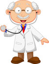 Doctor cartoon with stethoscope illustration of Stock Photo